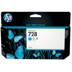 TINTA HP 728 130 ML CYAN ORIGINAL (F9J67A)