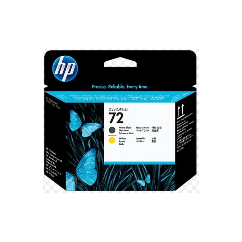 Cabezal de impresión DesignJet HP 72 negro mate y amarillo