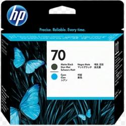 Cabezal de impresión DesignJet HP 70 negro mate y cian
