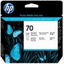 Cabezal de impresión DesignJet HP 70 negro fotográfico y gris claro