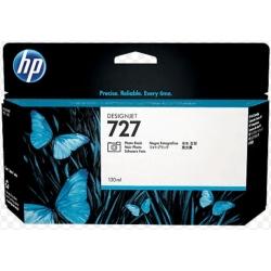 Cartucho de tinta HP 727 DesignJet negro fotográfico de 130 ml