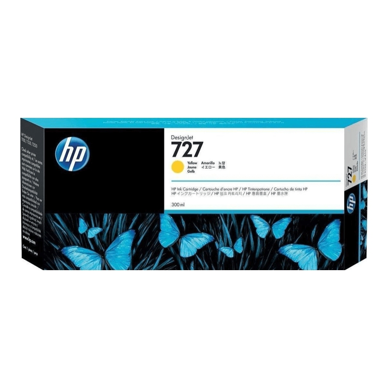 TINTA HP 727 300 ML AMARILLA ORIGINAL (F9J78A)   NYSI Soluciones