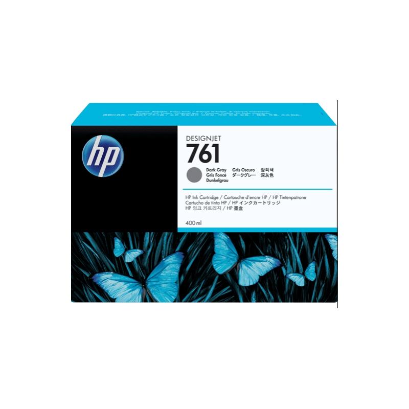 TINTA HP 761 400 ML GRIS OSCURO ORIGINAL (CM996A) | NYSI Soluciones