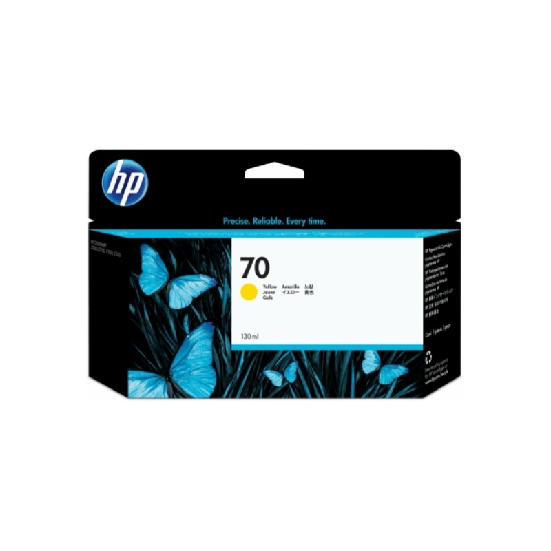 Cartucho de tinta DesignJet HP 70 de 130ml amarillo | NYSI Soluciones