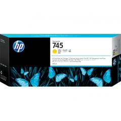Cartucho de tinta DesignJet HP 745 de 300 ml amarillo | NYSI Soluciones