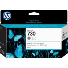 TINTA HP 730 130 ML GRIS ORIGINAL (P2V66A)
