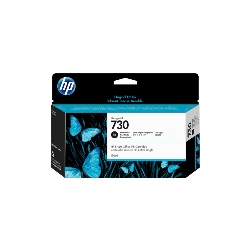 TINTA HP 730 130 ML NEGRO FOTOGRAFICO ORIGINAL (P2V67A) | NYSI Soluciones