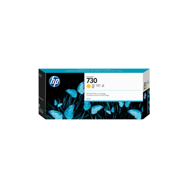TINTA HP 730 300 ML AMARILLA ORIGINAL (P2V70A)