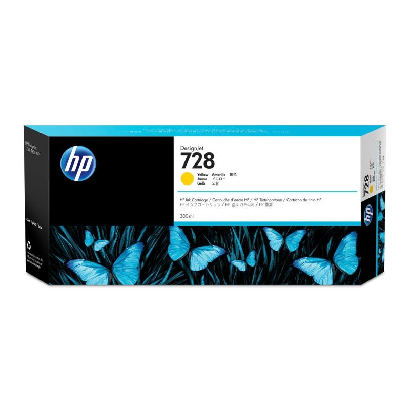TINTA HP 728 300 ML AMARILLO ORIGINAL (F9K15A) | NYSI Soluciones